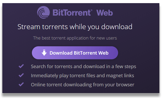 Captura de pantalla del logotipo de BitTorrent