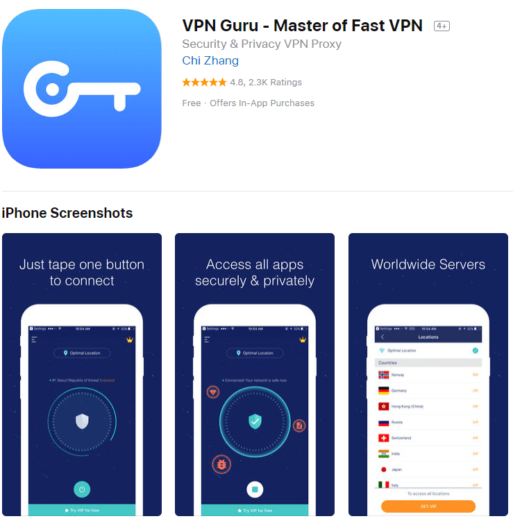 Screenshot Guru App Store VPN