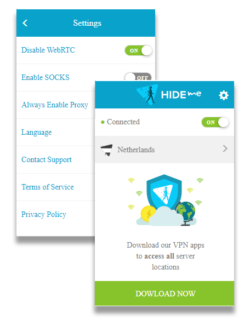 Hide.me Estensione del browser gratuita
