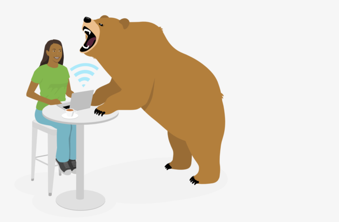 Captura de tela do site TunnelBear